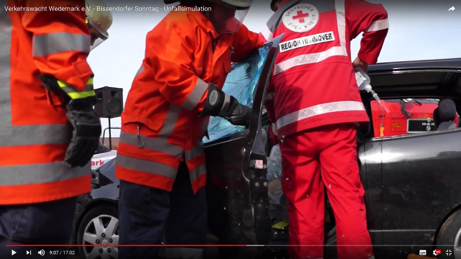 Unfallsimulation auf dem Bissendorfer Sonntag – Presse-Berichterstattung